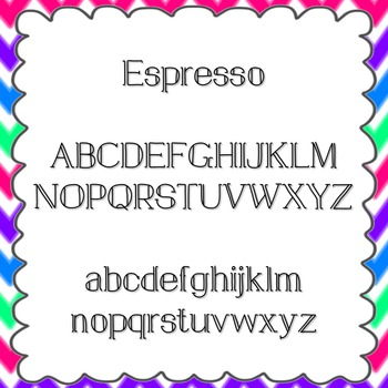 Espresso Font {personal and commercial use; no license needed}