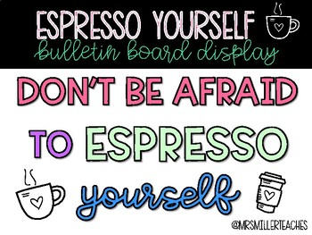 Espresso Yourself Bulletin Board Package