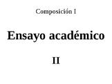 Esquema y organización de ensayos académicos