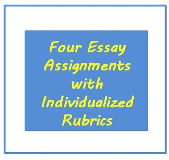 Essay Assignments Prompts and Rubrics for ESL Writing Adult or High School