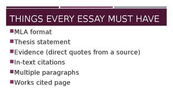 Essay Basics PowerPoint