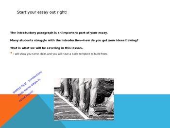 Essay Basics Series