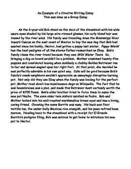 Essay: Bob and Burrito - An example of creative writing