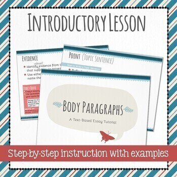 Body Paragraphs - Essay Writing Tutorial - PowerPoint
