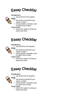 Essay Checklist By My Teacher My Hero  Teachers Pay Teachers  Persuasive Essay Topics High School Students also Spm English Essay  Proposal Essay Format
