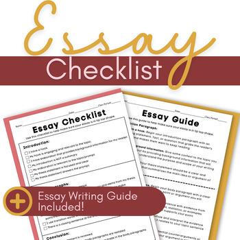 Essay Checklist Explanatory/Informative Essay