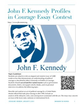 Essay Contest Handout - JFK Profiles in Courage