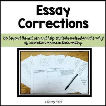 Essay Corrections for Any Type of Writing