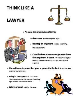 Essay Development, Think Like A Lawyer