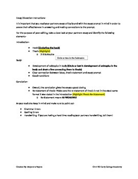 Essay Dissection- STAAR EOC Formatted