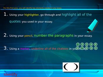 Essay Edit / Revision / Writing Process