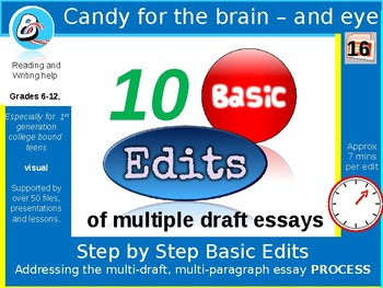 Essay Edits - 10 Basic edits \ improvements for drafting