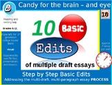 Essay Edits - 10 Basic edits \ improvements for drafting