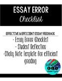 Essay Error Checklist