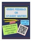 Essay Feedback Cheat Sheets- Help students with QR Codes