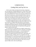 Essay Grading Policy