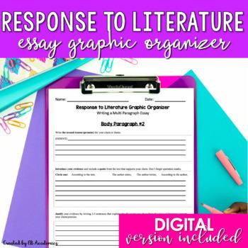 Literary Analysis Essay Graphic Organizer {EDITABLE}