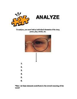 Essay Keyword - Analyze