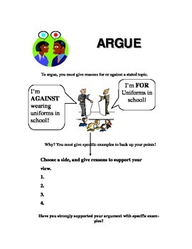 Essay Keyword Argue