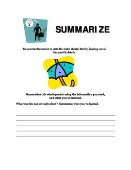 Essay Keyword - Summarize