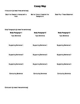 Essay Map for prewriting