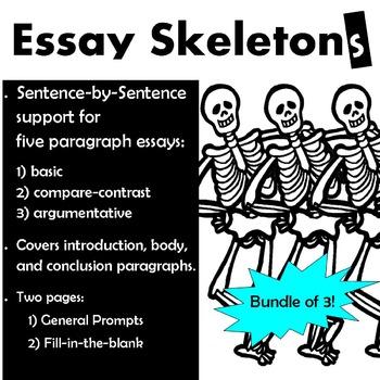 Essay Outline Bundle:  Basic, Argumentative, & Compare Contrast