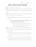 Essay Outline Frame
