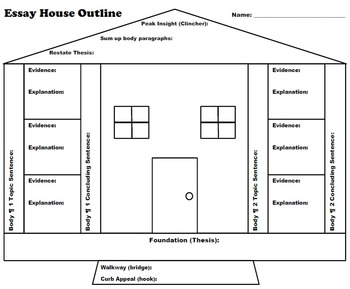 Essay Outline House Graphic Organizer