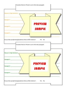 Essay Outline Organizer: 5-Paragraph Essay