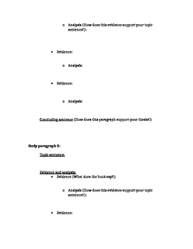 Essay Outline Template