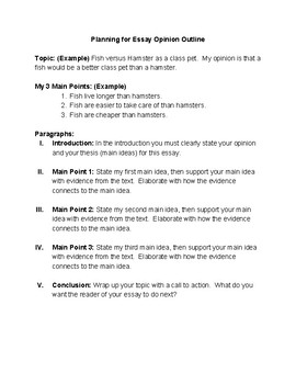 Essay Outline Template for Students