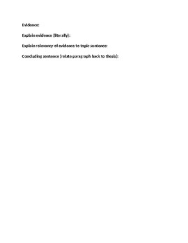 Essay Outline- Topic/Support/Concluding Sentences