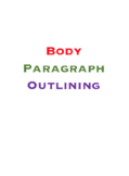 Essay Outline Worksheet-Body Paragraphs! Graphic organizer. Great 4 LD students