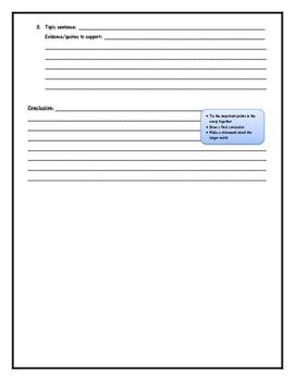Essay Outline (for any novel study)