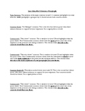 Essay Paragraph Sentence by Sentence Structure Outline