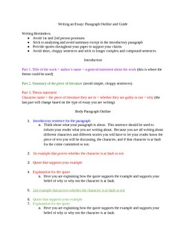 Essay Paragraphs Guide: Outline for Writing Assignments