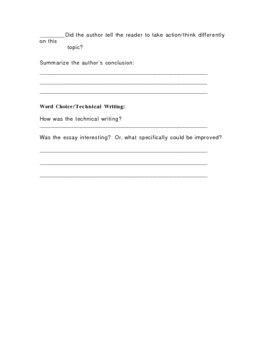 Essay Peer Review Guide