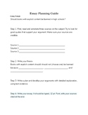 Essay Writing Guided Activity