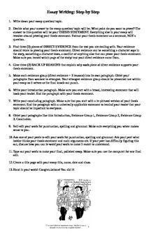 Essay Planning Guide Package
