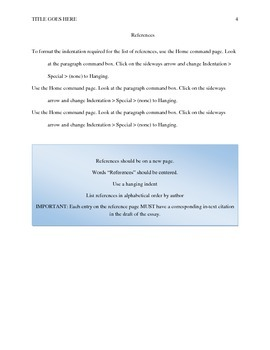 Essay Planning Resource APA Format