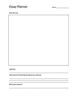 Essay Planning booklet