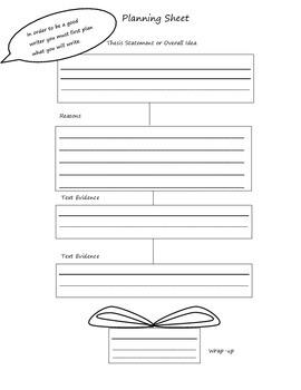 Essay Planning sheet 3 paragraph