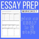 Essay Preparation Worksheet