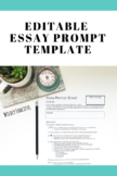 Editable and Reusable Essay Prompt Sheet Template (for any essay!)