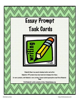 Essay Prompt Task Cards