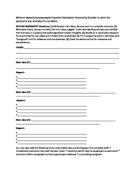 Essay Prompt and Outline Sheet with articles