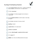 Essay Proofreading Checklist