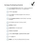 Essay Proofreading Checklist