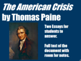 Essay Questions for American Crisis by Thomas Paine