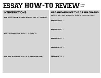 Essay REVIEW - Recap of the Essay Elements